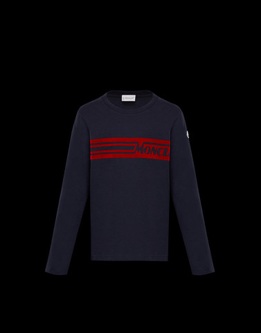LONG-SLEEVED T-SHIRT Dark blue New in Man