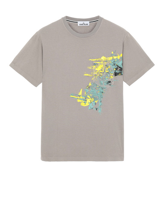 Short sleeve t-shirt 24682 PAINT STROKE 3 STONE ISLAND - 0
