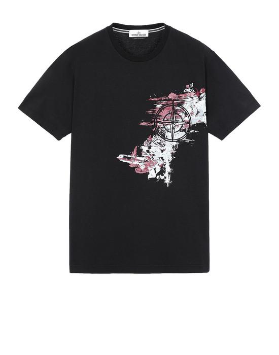 STONE ISLAND 24682 PAINT STROKE 3 Short sleeve t-shirt Man Black