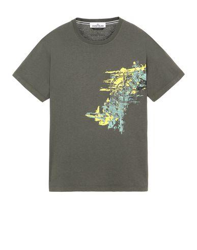 STONE ISLAND 24682 PAINT STROKE 3 Short sleeve t-shirt Man Musk Green USD 178