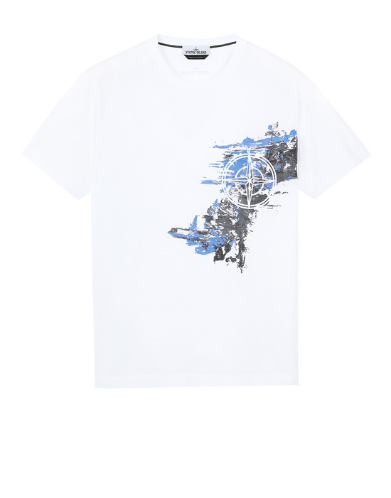 STONE ISLAND 24682 PAINT STROKE 3 Short sleeve t-shirt Man White