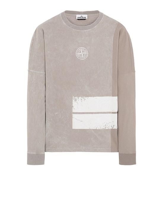 STONE ISLAND 20792 DUST ONE Long sleeve t-shirt Man Mud