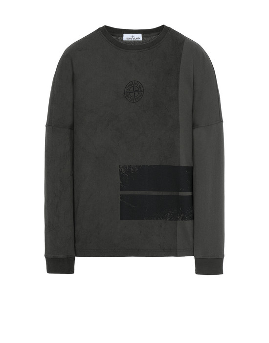 STONE ISLAND 20792 DUST ONE Long sleeve t-shirt Man Musk Green