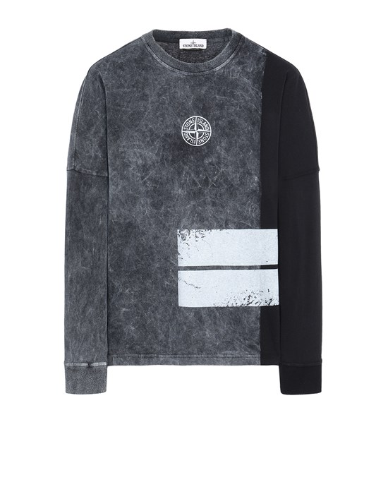 STONE ISLAND 20792 DUST ONE Long sleeve t-shirt Man Black