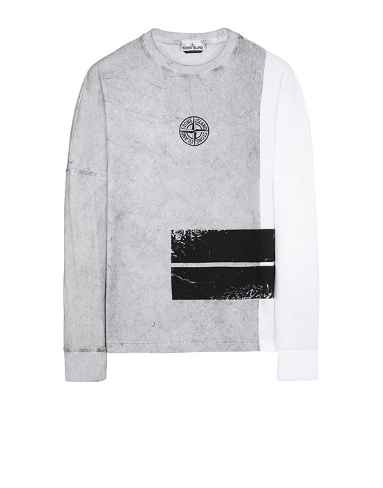 STONE ISLAND 20792 DUST ONE Long sleeve t-shirt Man White