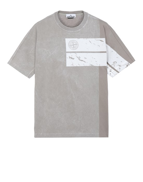 STONE ISLAND 20892 DUST ONE Short sleeve t-shirt Man Mud