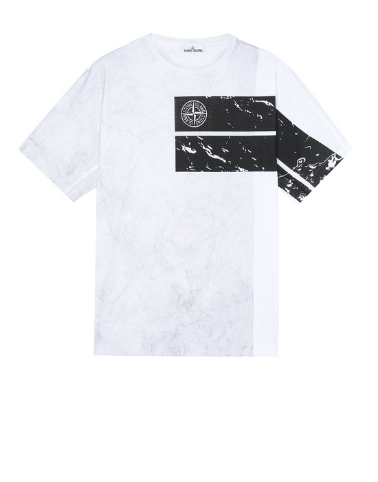 STONE ISLAND 20892 DUST ONE T-Shirt Herr Weiß