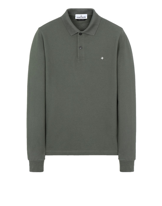 STONE ISLAND 21618 Polo shirt Man Musk Green
