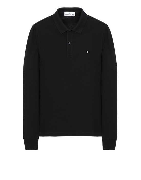 STONE ISLAND 21618 Polo shirt Man Black