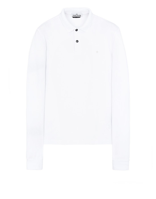 STONE ISLAND 21618 Polo shirt Man White