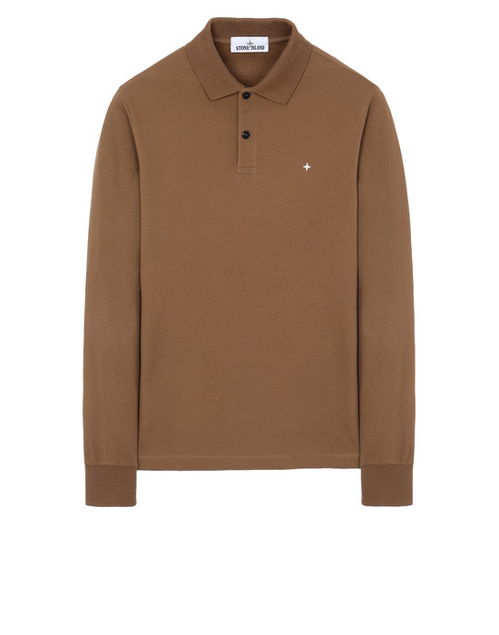 STONE ISLAND 21618 Polo shirt Man Tobacco