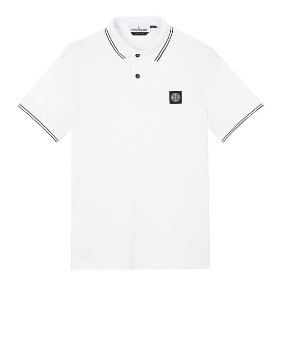 STONE ISLAND 22S18 Polo shirt Man White