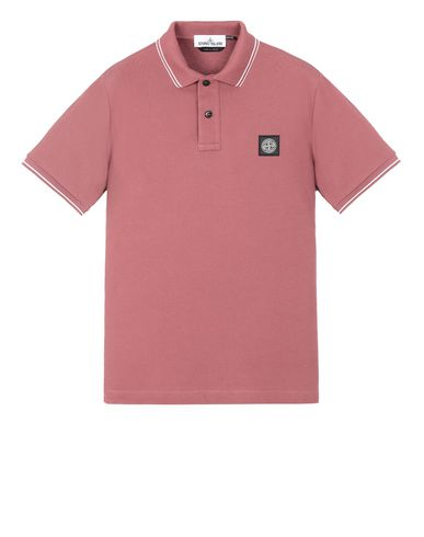STONE ISLAND 22S18 Polo shirt Man Dark Burgundy EUR 138