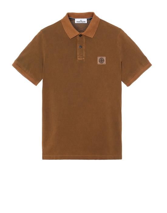 STONE ISLAND 22S67 PIGMENT DYE Polo shirt Man Tobacco