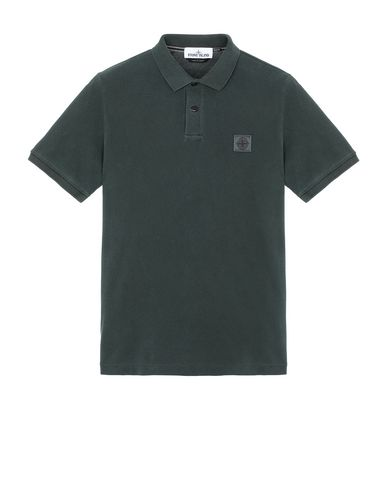 STONE ISLAND 22S67 PIGMENT DYE Polo shirt Man Musk Green USD 190