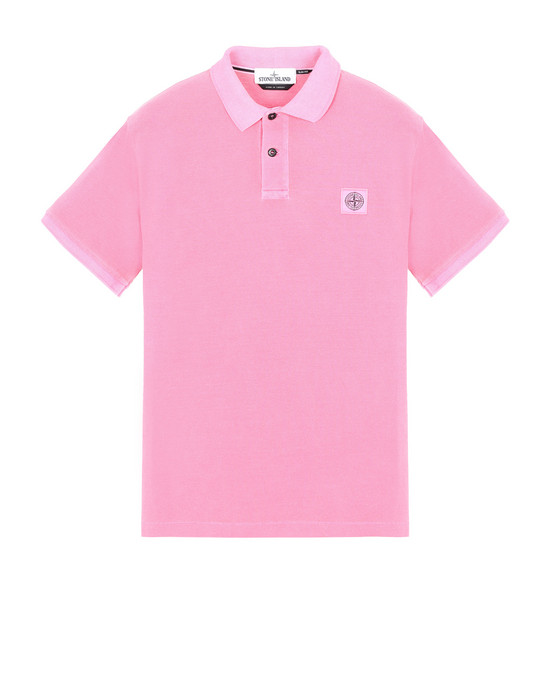 Polo Homme 22S67 PIGMENT DYE Front STONE ISLAND