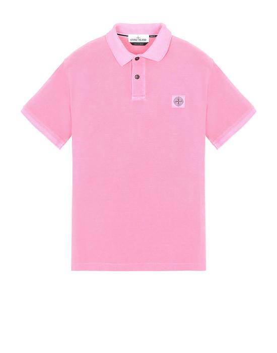 STONE ISLAND 22S67 PIGMENT DYE Polo shirt Man Cyclamen