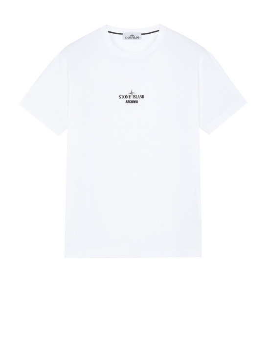 STONE ISLAND 2NS91 STONE ISLAND ARCHIVIO PROJECT_PRESIDENT'S KNIT Short sleeve t-shirt Man White