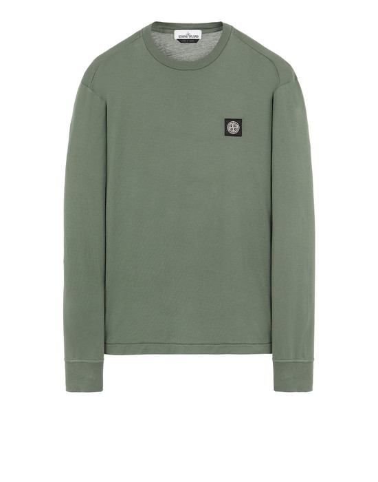STONE ISLAND 22713 Long sleeve t-shirt Man Sage Green