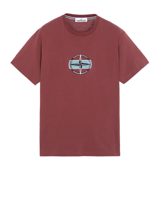STONE ISLAND 2NS84 3D THREAD LOGO Short sleeve t-shirt Man Dark Burgundy