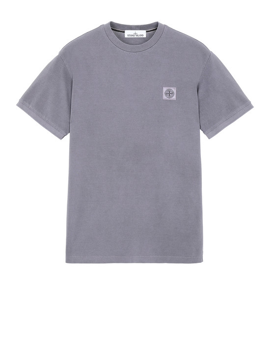 Short sleeve t-shirt Man 20467 PIGMENT DYE Front STONE ISLAND