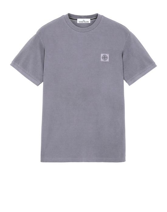 STONE ISLAND 20467 PIGMENT DYE Short sleeve t-shirt Man Magenta
