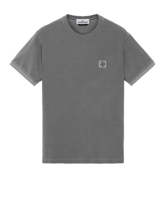 STONE ISLAND 20467 PIGMENT DYE Short sleeve t-shirt Man Grey