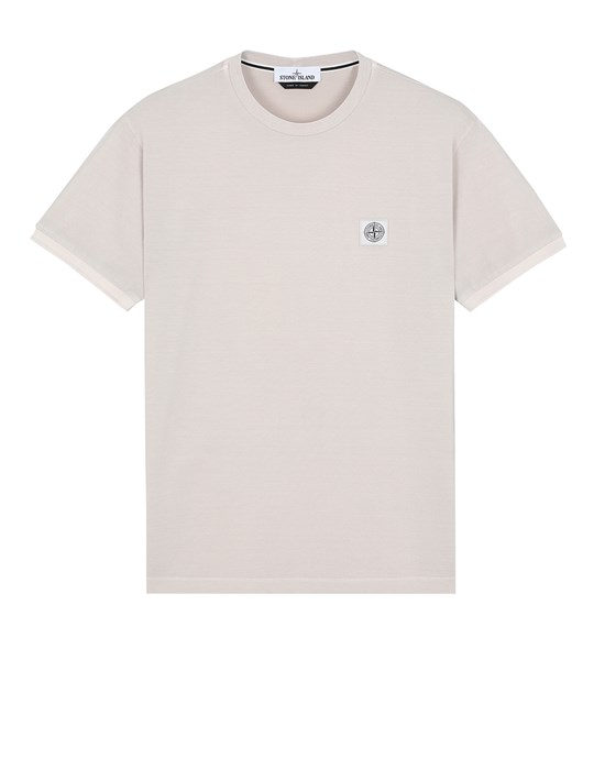 STONE ISLAND 20467 PIGMENT DYE Short sleeve t-shirt Man Dove Grey