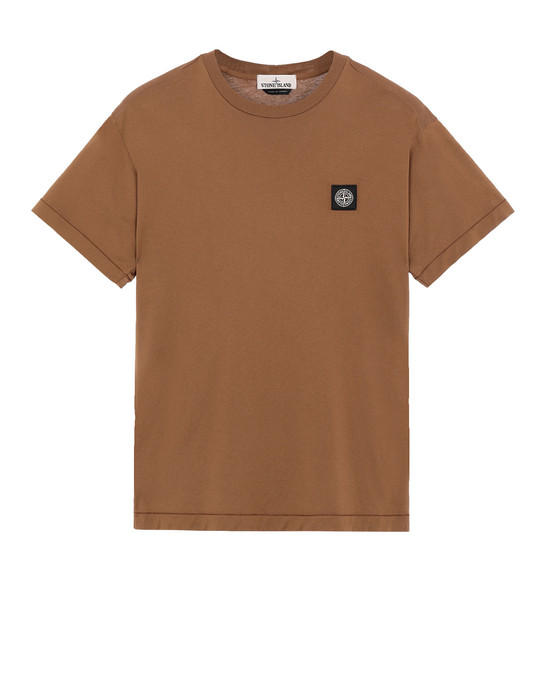 STONE ISLAND 24113 T-shirt manches courtes Homme Tabac
