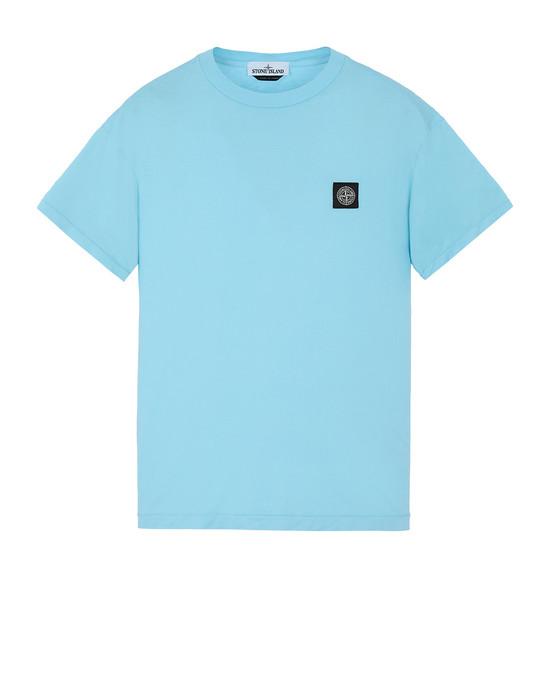 STONE ISLAND 24113 Short sleeve t-shirt Man Aqua