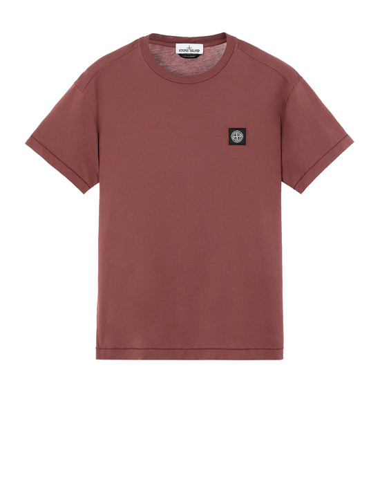 STONE ISLAND 24113 T-shirt manches courtes Homme Rouge vigne