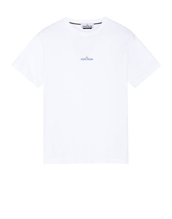STONE ISLAND 2NS81 PAINT STROKE 2 Short sleeve t-shirt Man White
