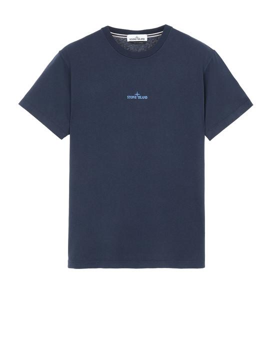 STONE ISLAND 2NS81 PAINT STROKE 2 Short sleeve t-shirt Man Marine Blue