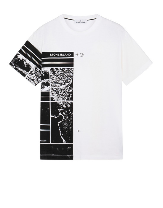STONE ISLAND 2NS87 MURAL PART 3 Short sleeve t-shirt Man White