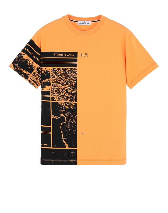 STONE ISLAND 2NS87 MURAL PART 3 Short sleeve t-shirt Man Orange
