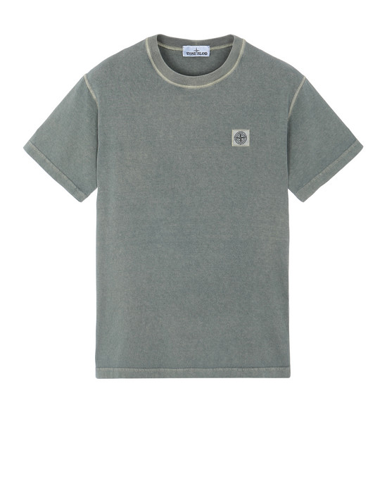 STONE ISLAND 23742 'FISSATO' DYE TREATMENT Short sleeve t-shirt Man Sage Green