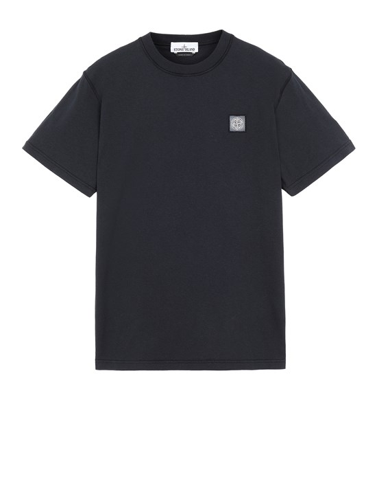 STONE ISLAND 23742 'FISSATO' DYE TREATMENT Short sleeve t-shirt Man Blue