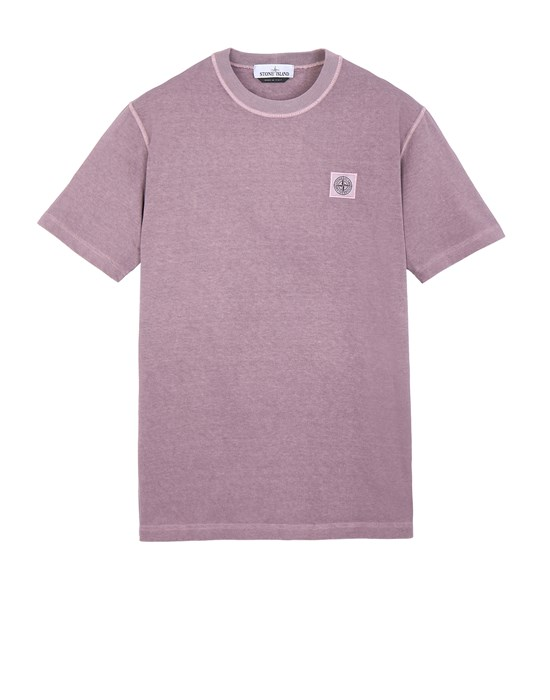 Short sleeve t-shirt Man 23742 'FISSATO' DYE TREATMENT Front STONE ISLAND