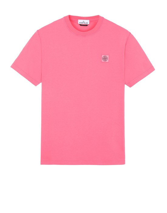 STONE ISLAND 23742 'FISSATO' DYE TREATMENT Short sleeve t-shirt Man Cyclamen