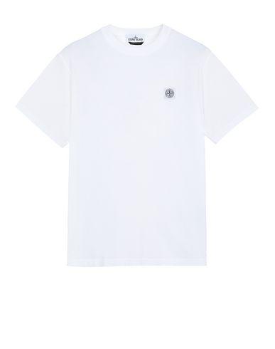 STONE ISLAND 23742 'FISSATO' DYE TREATMENT T-Shirt Herr Weiß EUR 129
