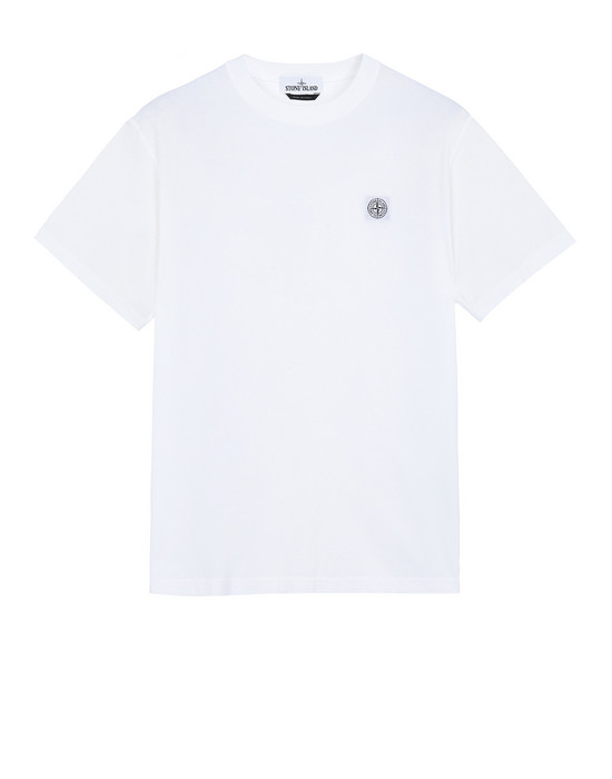 STONE ISLAND 23742 'FISSATO' DYE TREATMENT Short sleeve t-shirt Man White