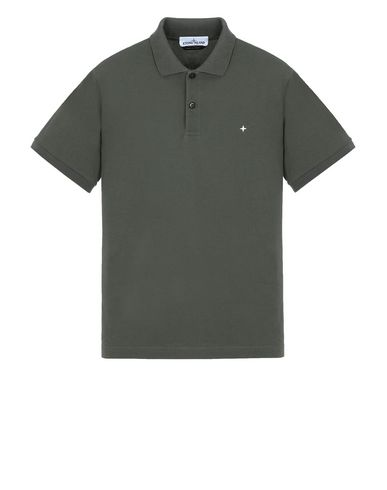 STONE ISLAND 21718 Polo shirt Man Musk Green USD 117
