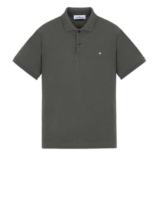 STONE ISLAND 21718 Polo shirt Man Musk Green