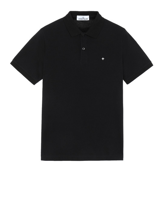 STONE ISLAND 21718 Polo shirt Man Black