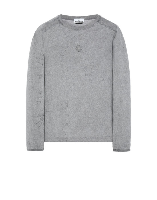 STONE ISLAND 20393 DUST COLOUR Long sleeve t-shirt Man Black Melange
