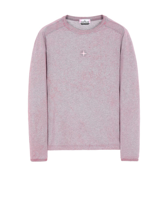 Long sleeve t-shirt Man 20393 DUST COLOUR Front STONE ISLAND