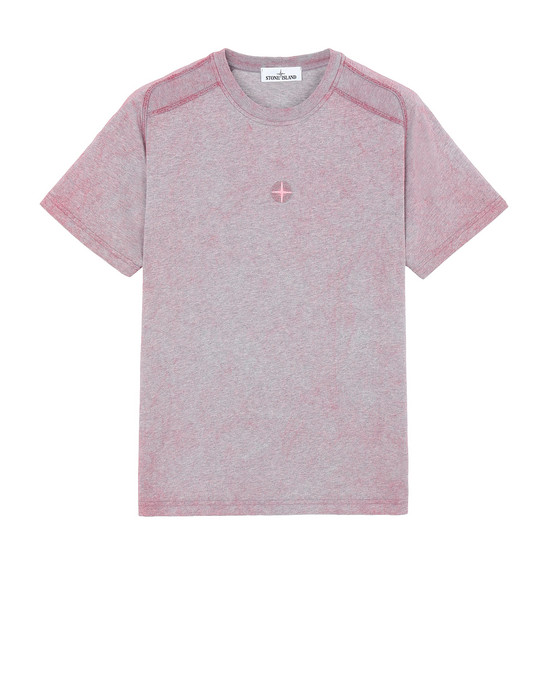 STONE ISLAND 22893 DUST COLOUR T-shirt manches courtes Homme CYCLAMEN CHINÉ