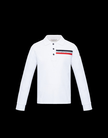 ポロシャツ ロングスリーブ ホワイト ジュニア 12-14歳 メンズ