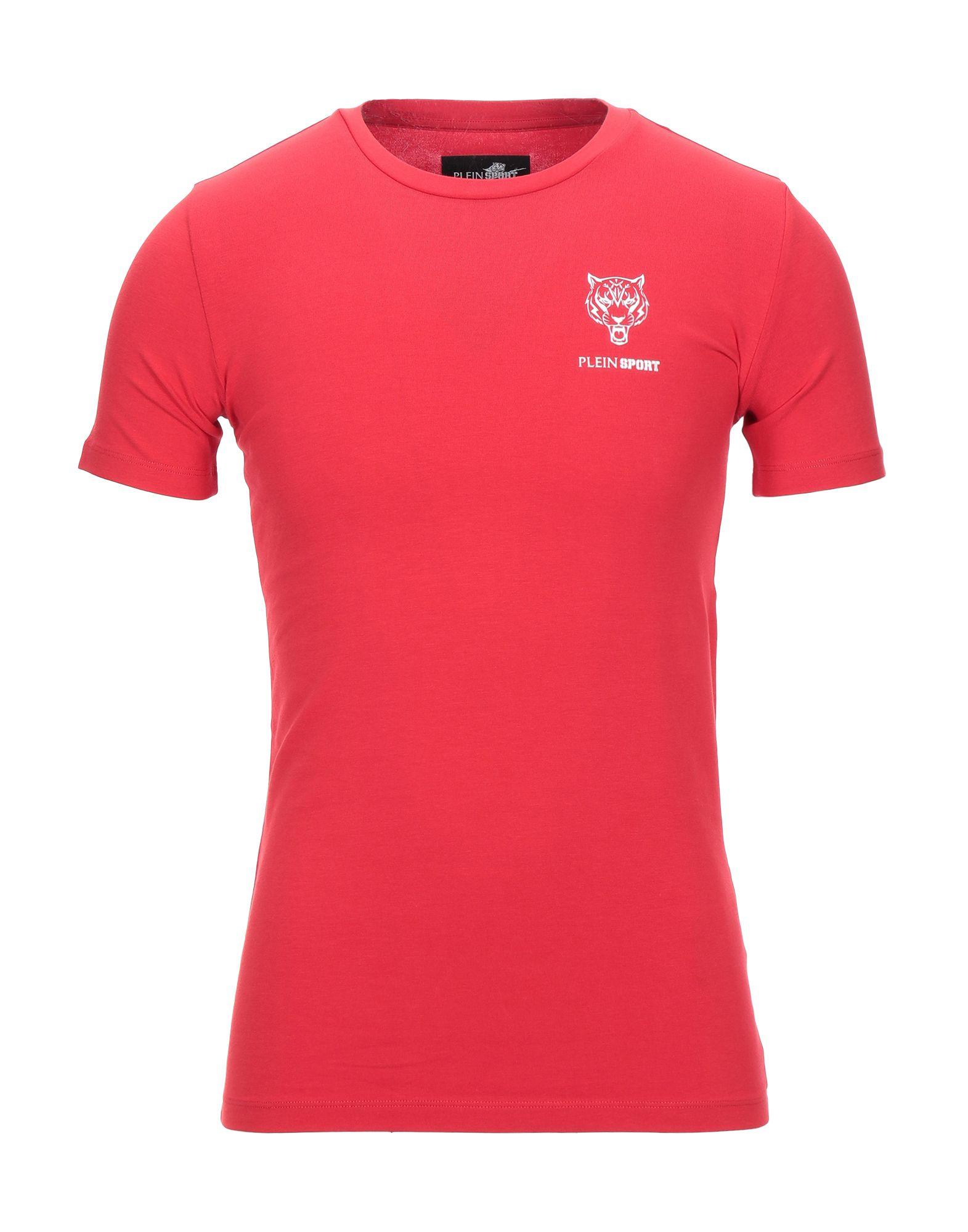 PLEIN SPORT プレイン・スポーツ メンズ T シャツ レッド - ダークブルー