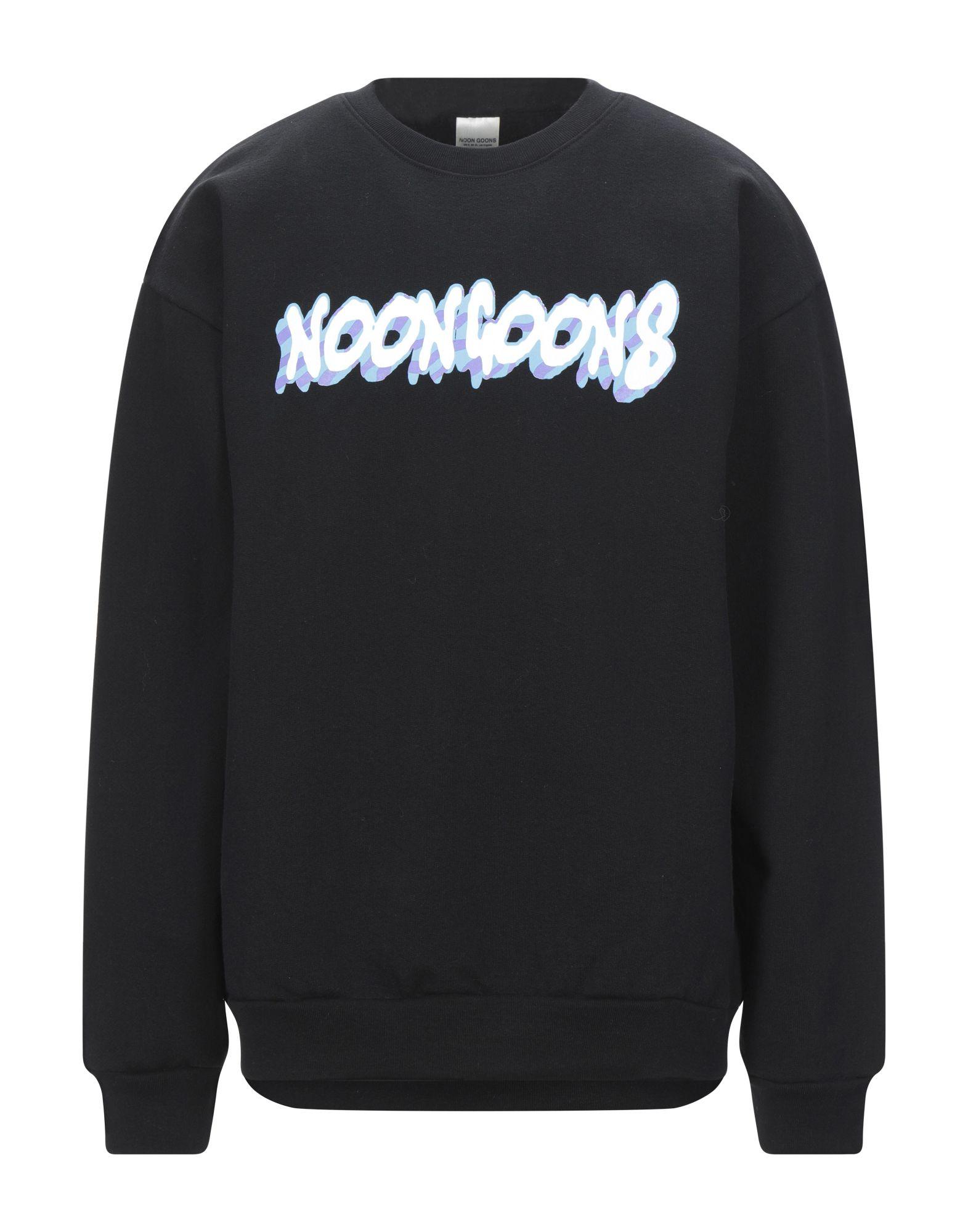 《セール開催中》NOON GOONS メンズ スウェットシャツ ブラック XL コットン 100%